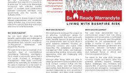Community-Led Bushfire Preparedness in Action: The Case of Be Ready Warrandyte