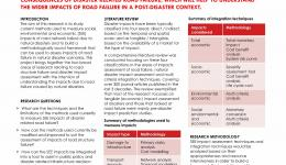 Measuring social, environmental and economic consequences of road structure failure due to natural disasters