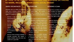 Social media in emergencies: an examination of government accountability for risk communication and warning