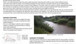 Water quality modelling with eWater source in Latrobe Catchment, Victoria