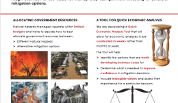 Quick economic analysis tool: An efficient way to value mitigation