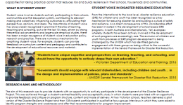 Amplifying student voice in disaster resilience education: A case study of the disaster resilience project
