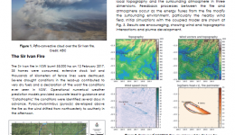 Coupled fire-atmosphere simulations of the Sir Ivan Fire