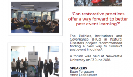 Restorative inquiries and natural disasters