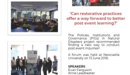 Restorative inquiries and natural disasters