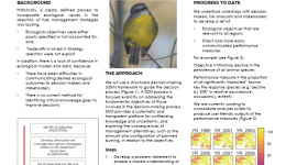 Developing a decision framework that integrates ecological models to inform bushfire management planning