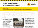 Flood management in a changing climate