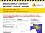 Using realistic disaster scenario analysis to understand natural hazard impacts and emergency management requirements