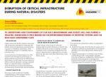 Disruption of Critical Infrastructure during National Disasters