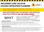 Including Land Value in Hazard Mitigation Planning