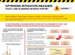 Optimising mitigation measures policy and planning decision support