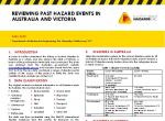 Reviewing past hazard events in Australia and Victoria