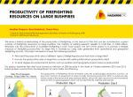Productivity of firefighting resources on large bushfires