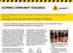 Scoping community resilience
