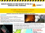 Remote sensing of fire severity in the 2013 Dunalley fire, Tasmania