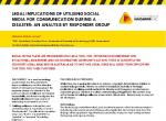 Legal implications of utilising social media for communication during a disaster: An analysis by Responder Group