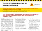 Scoping remote North Australian community resilience