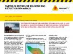 Cultural Drivers of Disaster Risk Reduction Behaviour