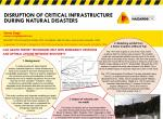 Disruption of critical infrastructure during natural disasters