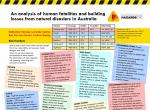 An analysis of human fatalities and building losses from natural disasters in Australia