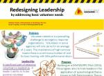 Redesigning leadership by addressing basic volunteer needs