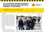 Out of Uniform: Building Community Resilience Through Non-Traditional Emergency Volunteering