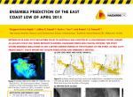 Ensemble prediction of the East Coast Low of April 2015