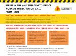 Stress in fire and emergency service workers operating on-call from home