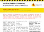 Cost-effective mitigation strategy development for flood prone buildings