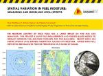 Spatial variation in fuel moisture: Measuring and modelling local effects