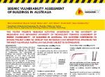 Seismic Vulnerability Assessment of Buildings in Australia