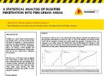 A statistical analysis of bushfire penetration into peri-urban areas