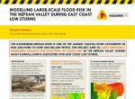 Modelling large-scale flood risk in the Nepean Valley during east coast low storms