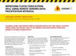 Improving flood forecasting skills using remote sensing data: precipitation retrieval