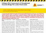 Collapse risk assessment of strengthened concrete bridge pier under flood loads