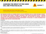 Assessing the impact of fire using soil and pyrolisis-GC-MS
