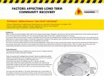 Factors affecting long term community recovery