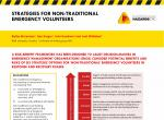 Strategies for non-traditional emergency volunteers