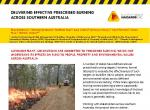 Delivering Effective Prescribed Burning Across Southern Australia