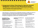 Integrated Urban Planning for Natural Hazard Mitigation
