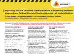 Improving the role of hazard communications in increasing residents' preparedness for bushfires and floods: A summary of project findings