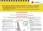 Developing a Decision Support System for Western Australia