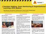 Decision Making, Team Monitoring & Organizational Learning: 2018 Update