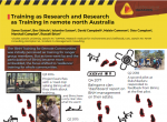 Training as Research and Research as Training in remote north Australia