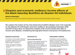 Disasters and economic resilience: Income effects of the Black Saturday Bushfires on disaster-hit individuals