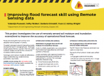 Improving flood forecast skill using Remote Sensing data