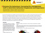 Extreme fire behaviours: Surveying fire management staff to determine behaviour frequencies and importance