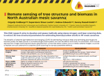 Remote sensing of tree structure and biomass in North Australian mesic savanna