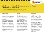 Influence of Road Characteristics on Flood Rescues in Australia
